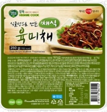 삼육유기농자연식품 채식 육미채 250g 콩으로만든 고기